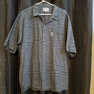 Columbia XXL short sleeve button up 100% cotton